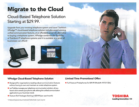 Toshiba Migrate to the Cloud