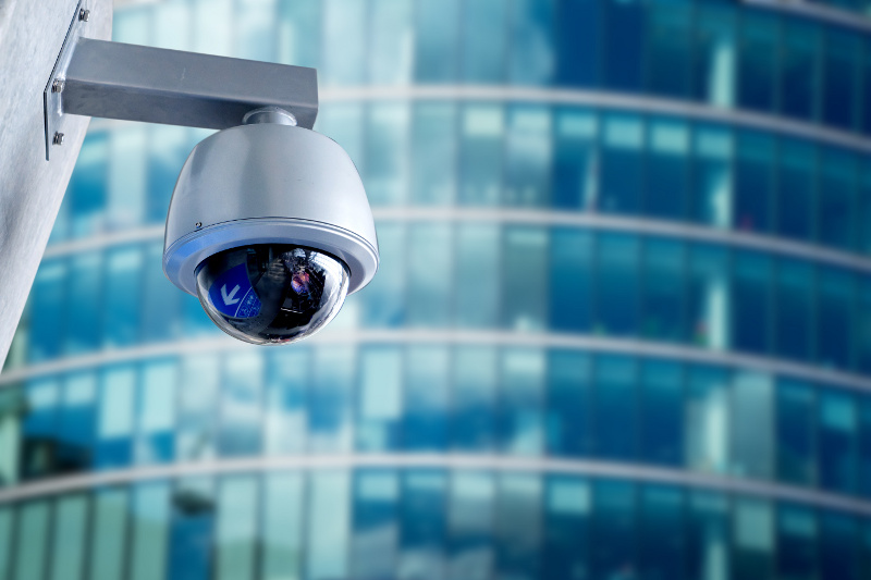 Surveillance Camera on Commercial Building